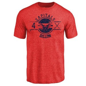 Brenden Dillon Washington Capitals Youth Red Insignia Tri-Blend T-Shirt -